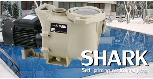 SHARK swimming pool pump also in winter